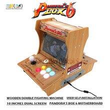 Новый ящик Pandora 6 деревянный двойной Боевая машина 10 дюйм(ов) двойной экран пользователь самоустановка DIY Мини бартоп аркадная машина