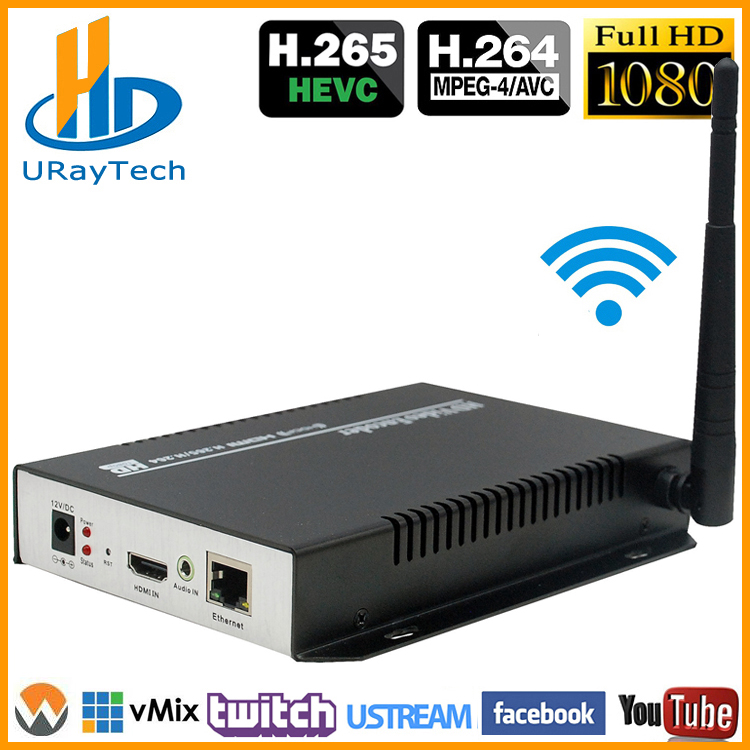 HEVC H265 HDMI To IP Stream Encoder WiFi HDMI Encoder IPTV H.265 HDMI RTSP Encoder Support HTTP RTSP RTMP UDP-in Radio & TV Broadcast Equipments from Consumer Electronics    1