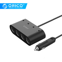 ORICO 2/3/4 Port USB Car Charger Dual Port Adapter Smart Charger with Cigarette Lighter Socket For IPhone Samsung Galaxy Xiaomi(China)