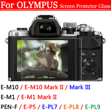 цена на Camera Display Screen Protector Film For Olympus E-P5 E-PL7 E-PL8 E-PL9 PEN-F OMD EM10 EM1 Mark II III 9H LCD Tempered Glass