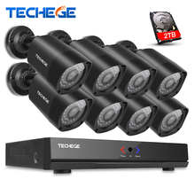Techege 8CH NVR 960P IP Network PoE Video Record 1.3M HD CCTV Security Camera System Outdoor Home video Surveillance kit XMeye
