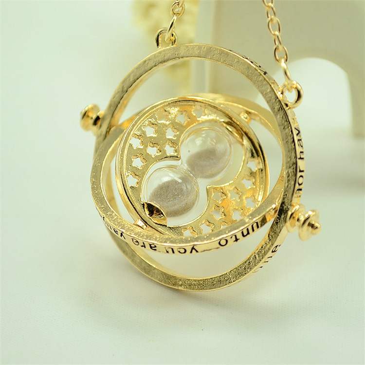 150 Pcs/lot Harri Potter time turner Necklace hourglass Pendants toy gifts-in Action & Toy Figures from Toys & Hobbies    1
