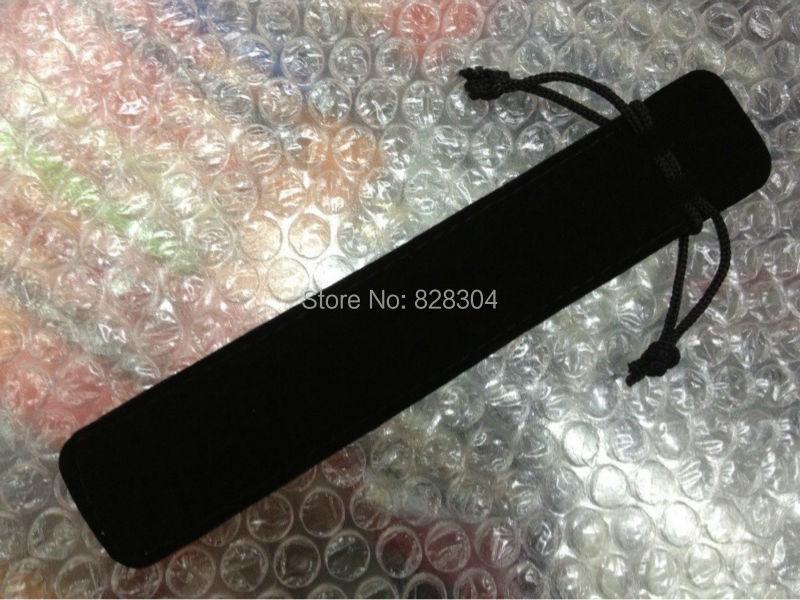 Free shipping black Velvet pen bag pen pouch pencil case with rope black 100pcs lot