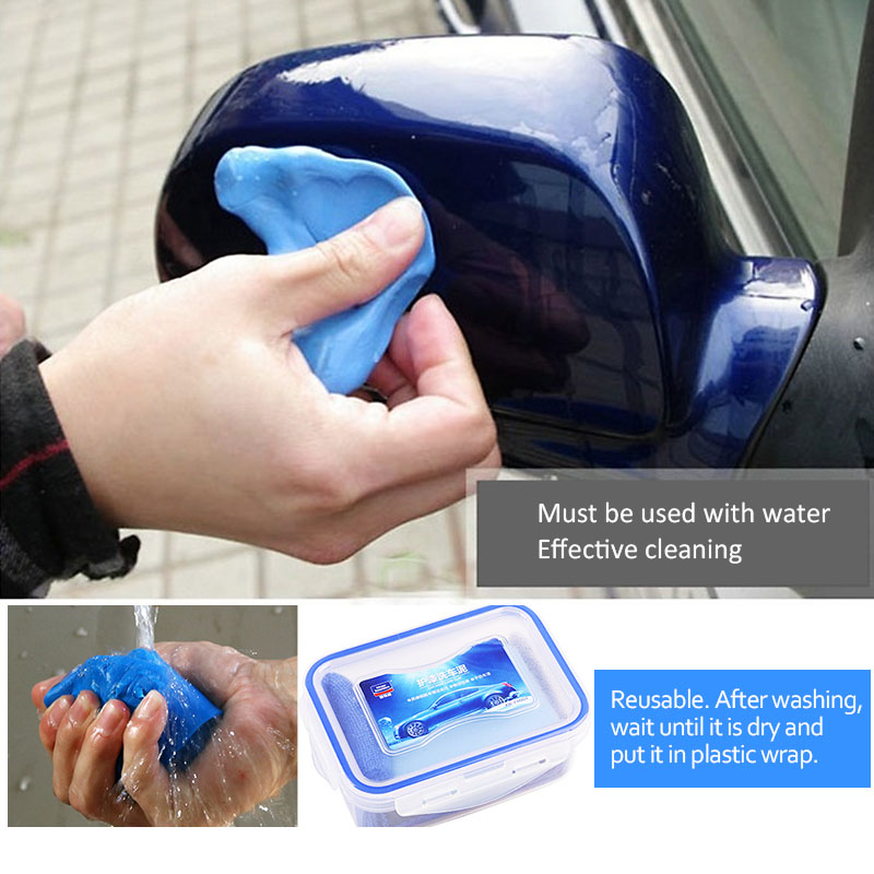 100g Car Wash Magic Clean Clay Bar Car Truck Wash Clean Tools Magic Washing Mud Car Cleaner  Auto Cleaning Tool Mud Gum