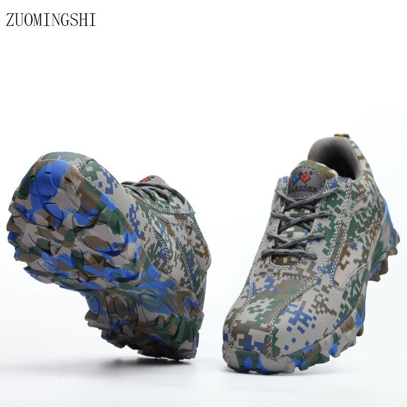 91695c6a52ba6c Letnie buty męskie oddychające lekkie obuwie ochronne SteelToe Bot obuwie  robocze kamuflaż buty antypoślizgowe skórzane buty robocze w Letnie buty  męskie ...
