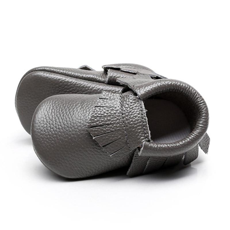 Hongteya Girls Ægte læder kvaster Sko Nyfødte baby Moccasins Toddler First Walker Bløde Cute Crib Sko Bebe Sneakers