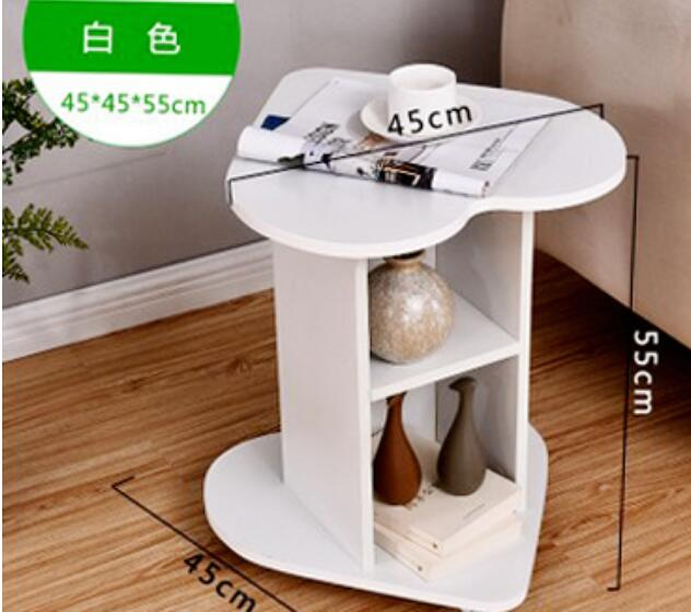 45*45*55CM Heart Shape Coffee Table Balcony Tea Table Modern Bedside Table Sofa Side Table 45