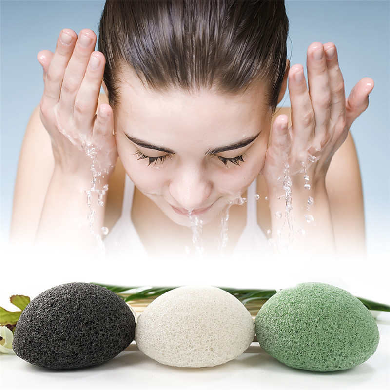 Face Roller 1 Pcs 3 Colors Fashion Natural Konjac Puff Face Washing Facial Sponge Exfoliator For Women Face Skin Care Tools
