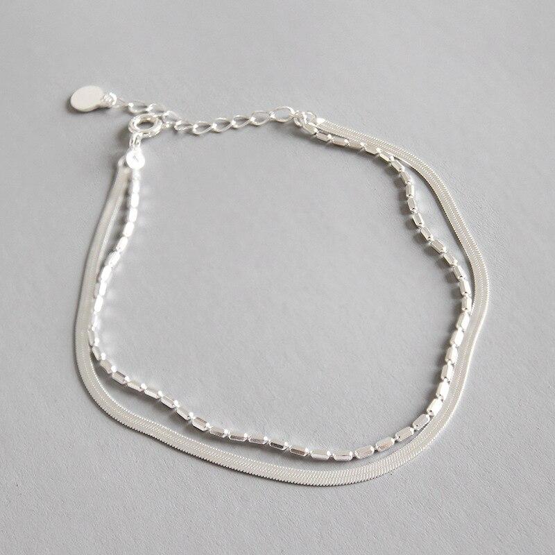 HFYK Snake Chain Bracelets For Women 925 Sterling Silver Bracelet Jewelry pulseras de plata pulseira feminina