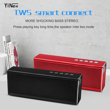 YINEW 20W Bluetooth Speaker 4400mAh Big Power Wireless Speaker Portable Super Bass Subwoofer Outdoor Waterproof Radio TF Column 20w bluetooth speaker 4400mah power bank portable super bass wireless loudspeaker vs vtin bluedio mi anke bluetooth speaker