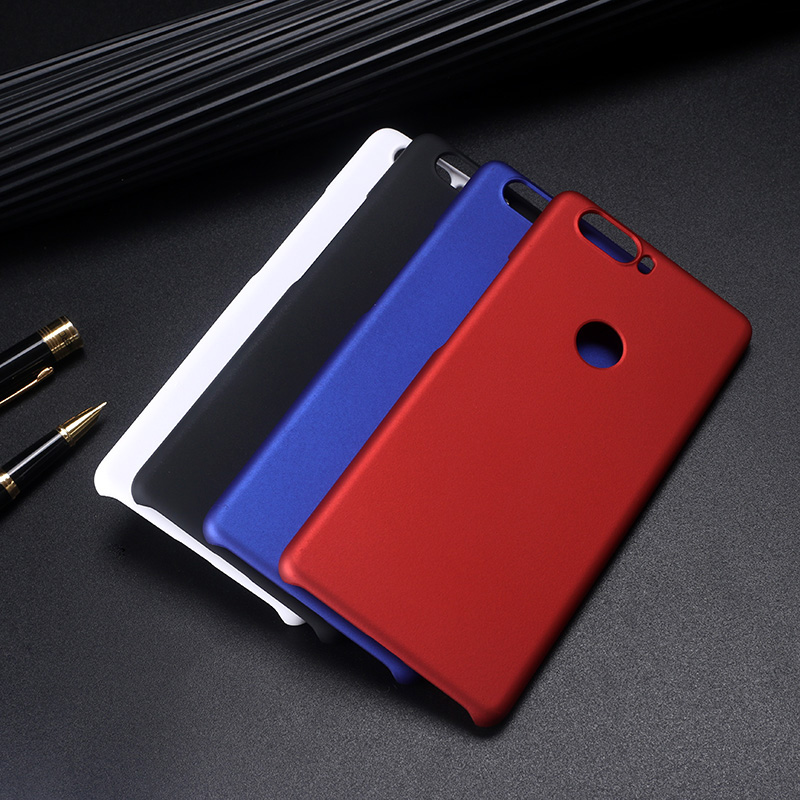 ZTE1359_4_Pure Color Frosted Plastic Protective Case for ZTE Nubia Z17 Lite