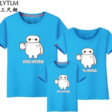 LYTLM Mother Kids Clothing Family Matching T Shirts Mother Daughter Father Son Cartoon Big Hero Baymax Matching Family Outfits