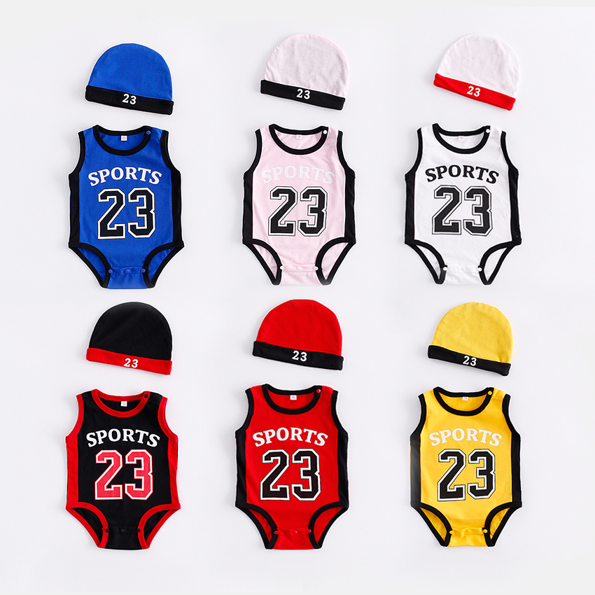 Newborn Baby   Rompers   Cute Basketball kids Clothes boys Girl Jumpsuits Roupas De Bebe Infantil Baby 23 Sport Clothing