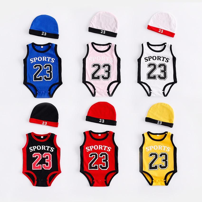 Newborn Baby   Rompers   Cute Basketball kids Clothes boys Girl Jumpsuits Roupas De Bebe Infantil Baby 23 Sport Clothing