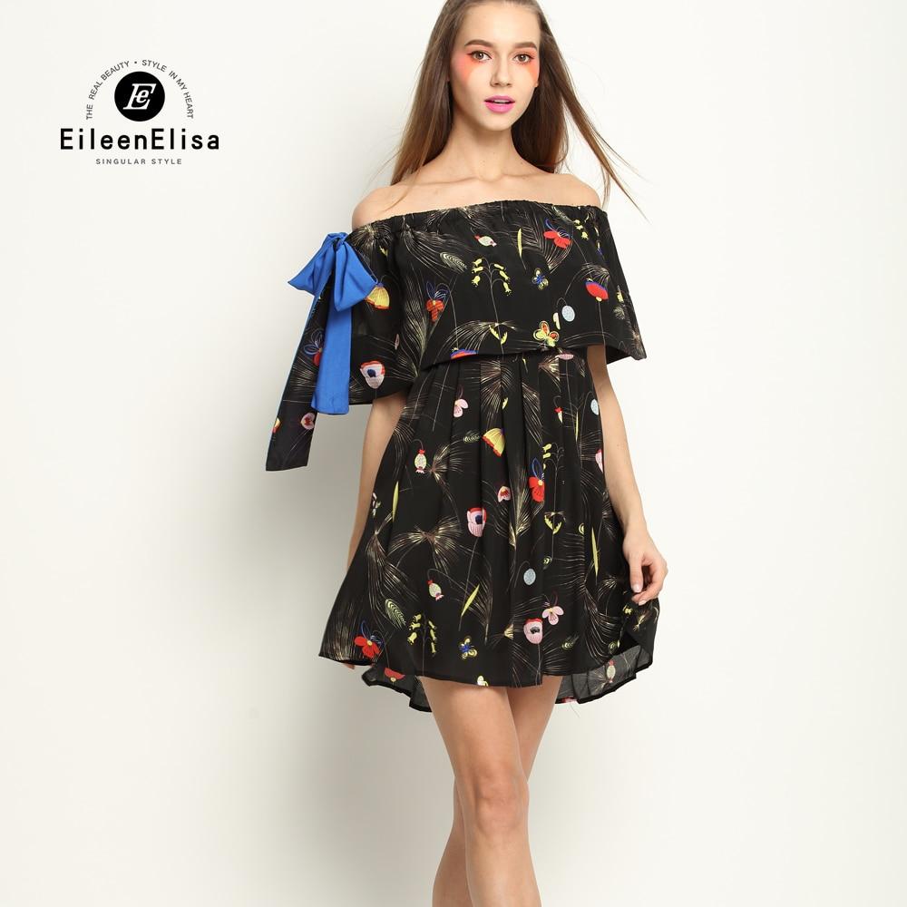 Runway Slash Neck Dress Spring Summer Runway Designer Dress 2017 Luxury Print Dress