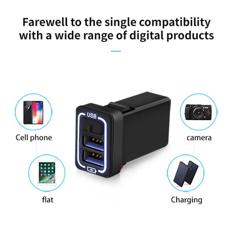 Chargers & Service Equipment Smart Car Accessories Usb Charger Quick Charge 2.0a 220v2 Port Usb2.0 For Iphone Micro Usb Type C Phone For Honda All Models Universal Buy Now