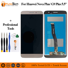 Black/White/Gold For Huawei Nova Plus LCD Display + Touch Screen Digitizer Assembly Replacement With Frame with Free TOOLS