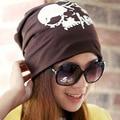 Fashion Women Hats Mens Hip Hop Skeleton Caps Vintage Letter Printing Turtleneck Cap Winter Warm Skull Beanies Street Punk Hat