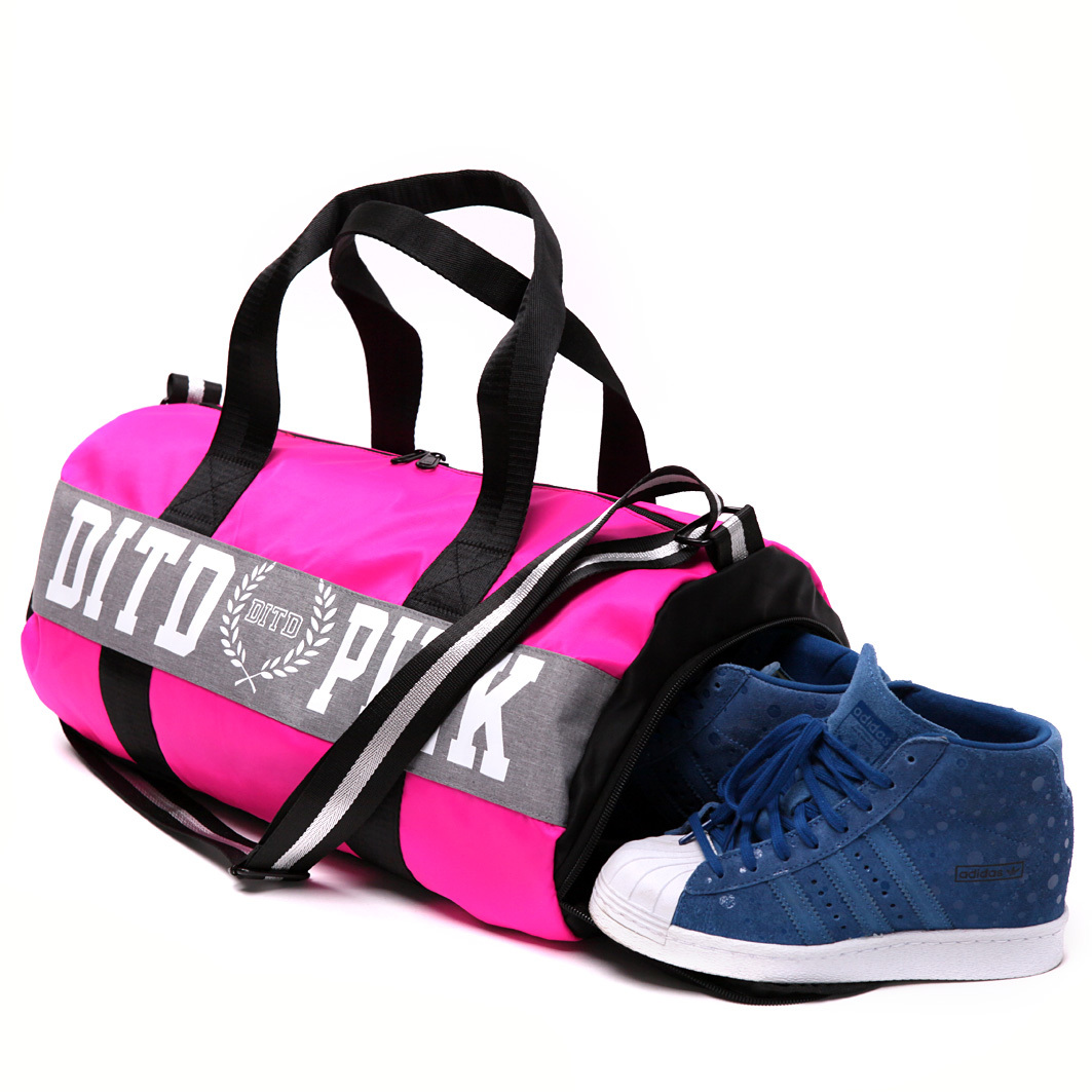 2018 Pink gray black Women Men Gym Bag Fitness Shoulder Gird Strip Travel  Bag Outdoor Yoga Bag With Shoes Storage Sac De Sport-in Gym Bags from Sports  ... 8fb80646f704