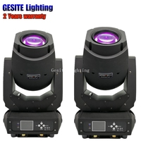 2pcs/lot lyre 2in1 color wheel 200w dmx led moving head zoom spot beam light
