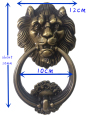 UNILOCKS 12 cm Grande Antigo Leão Doorknocker Aldrava Lionhead Doorknockers Lions Home Decor