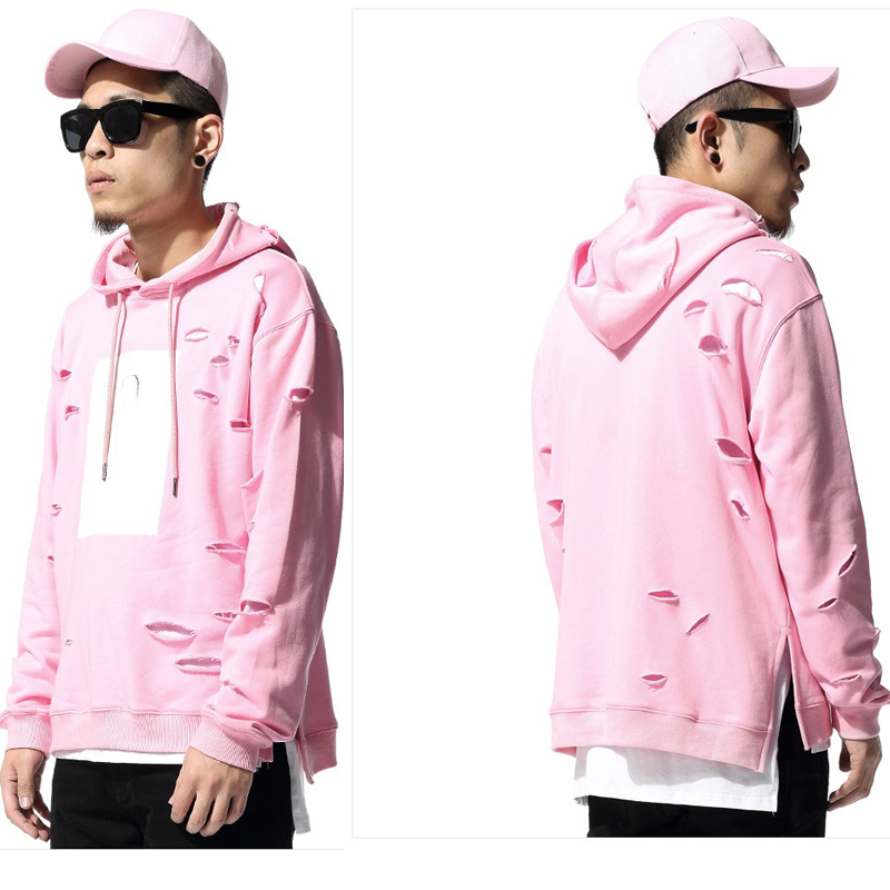 Pink Pullover Hoodie Men'S - Hardon Clothes