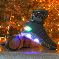 Rechargeable Led light up Back to the Future Shoes zapatillas glowing COsplay Men Warrior shoes lighting hightop Boots