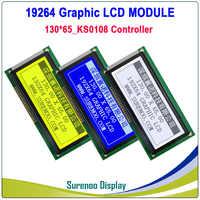 19264 192*64 192X64 130X65MM matriz gráfica módulo LCD pantalla LCM build-in KS0108 controlador con retroiluminación LED
