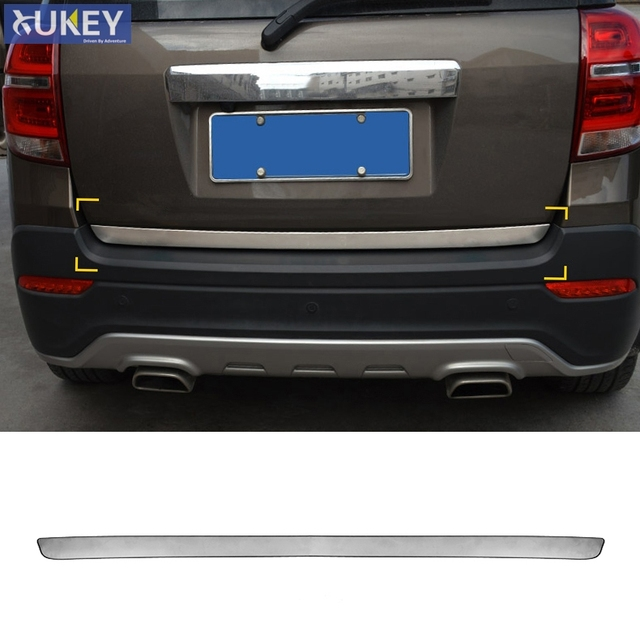US $20 23 8% OFF|Fit For chevrolet Holden Captiva 7 2008 2016 2017 Chrome  Rear Trunk Tail Gate Door Cover Trim Edge Molding Strip Garnish Styling-in