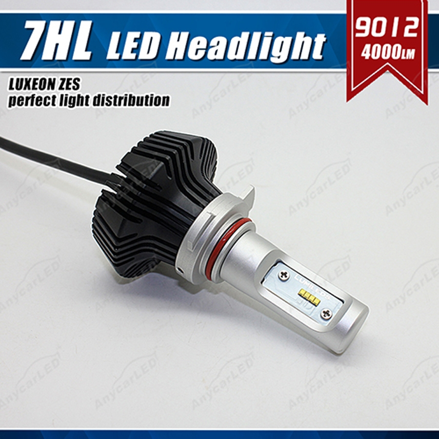 1 Set 9012 HIR2 50 W 8000LM G7 phare LED Kit ampoule de phare LUMI LED LUXEON ZES 16 LED SMD puce sans ventilateur 6500 K blanc mis à niveau HID - 2