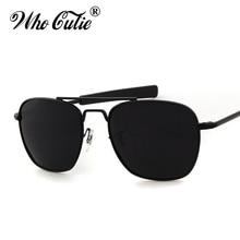 WHO CUTIE 2017 Men Polarized AO Sunglasses MILITARY American Optical Lens James Bond Caravan Sun Glasses Hot Ray Shades OM399