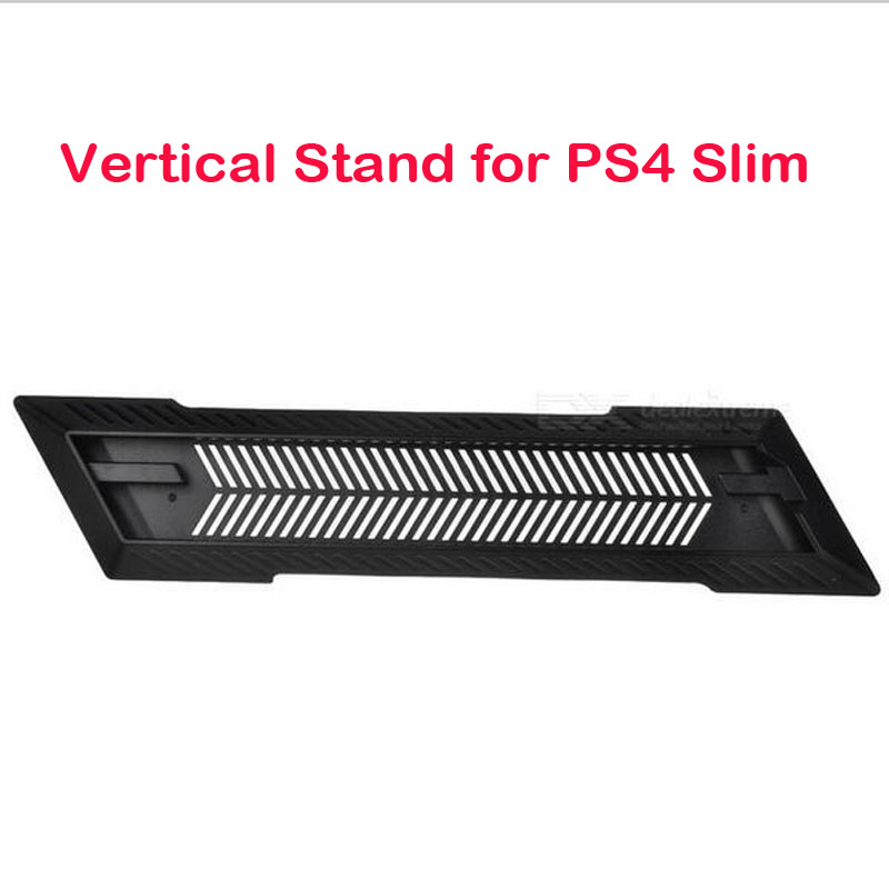 Vertical Stand Dock Cooling Mount Bracket Non-Slip Secure Base for Sony Playstation 4 PS4 Slim Game Console Host Cradle Holder