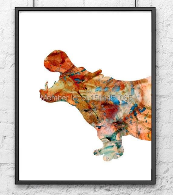 Modern Home Decor kids Room Decor Abstract Zebra Giraffe Hippo Wall ...