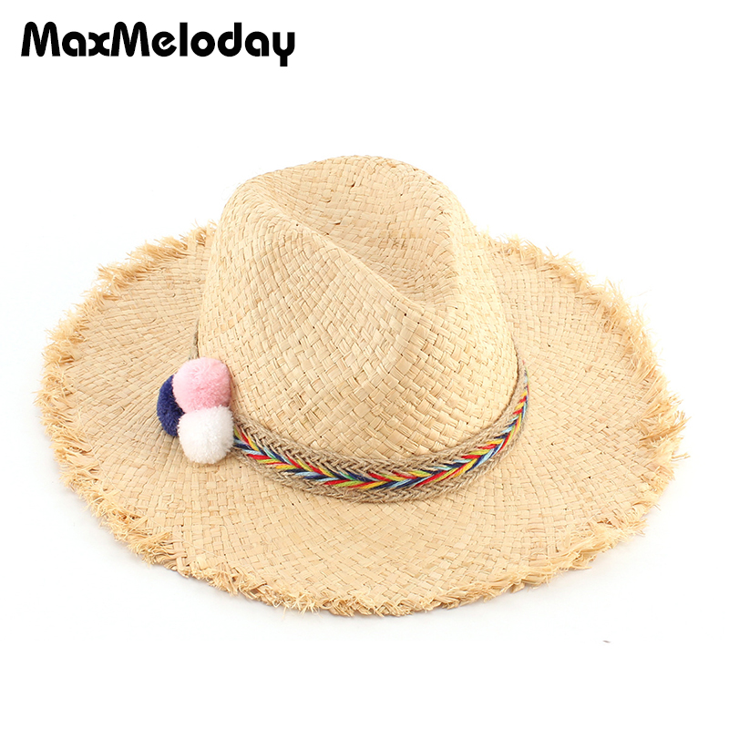 ca037c203a766 MaxMeloday Handmade 100% Raffia Summer Hats Women Beach Soft Beach Hat  Women Summer Floppy Foldable Summer Hats Women Straw Caps
