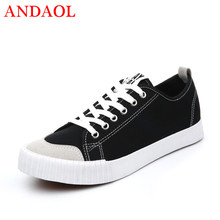 ANDAOL Men's Casual Shoes Top Quality Breathable Light Sneakers Basket Tenis Feminino New Luxury Canvas Lace-Up Campus Trainers 2017 puma basket classic campus bikini series portable badminton shoes