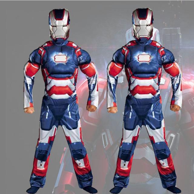 VEVEFHUAG Christmas Boys Muscle Super Hero Captain America Costume SpiderMan Hulk Batman Avengers Costumes Cosplay for Kids Boy