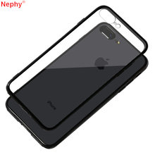 PC + TPU claro caso de cristal para iPhone XS MAX iPhone XR iPhone 7 8 6 5 s 5SE 6 funda trasera para teléfono móvil Plus iPhone 7Plus 8Plus(China)