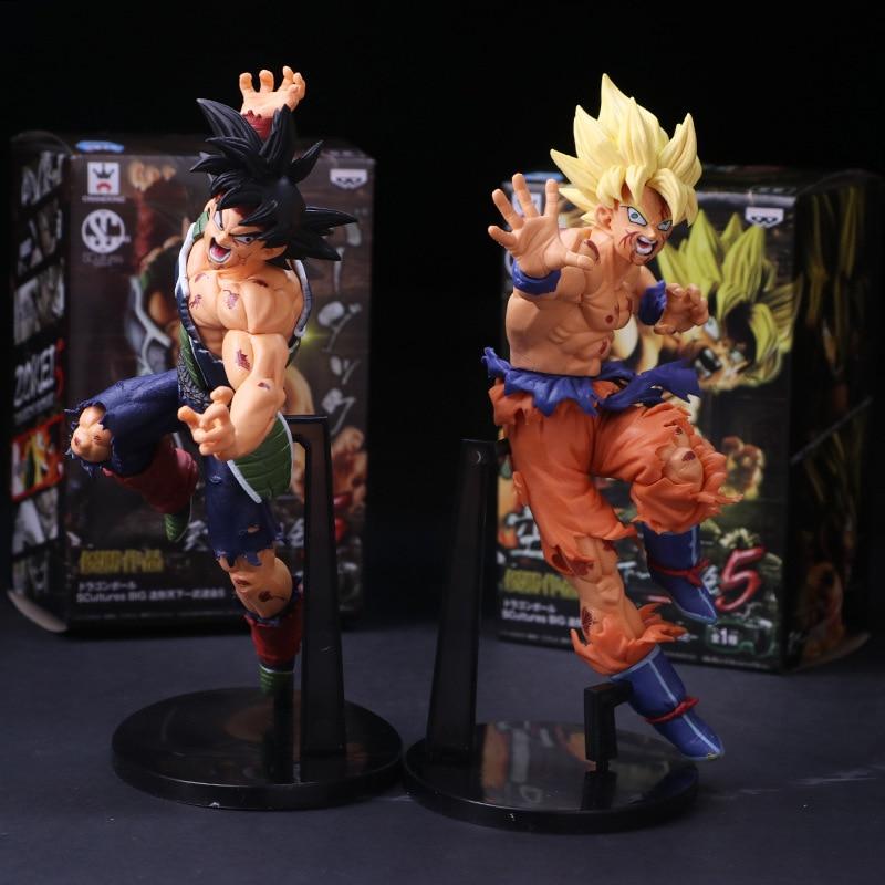 Dragon Ball Z Resurrection F Super Saiyan Son Gokou Bardock PVC Action Figure Collectible Model Doll Toys 23cm With Box