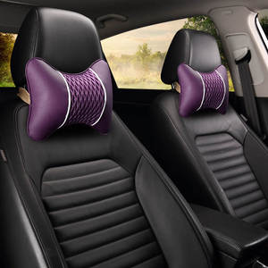 Image 3 - רכב כרית רכב משענת ראש צוואר כרית קרח משי צוואר הרחם כרית מכונית מושב עור צוואר כריות כרית זוג של ארבע עונות
