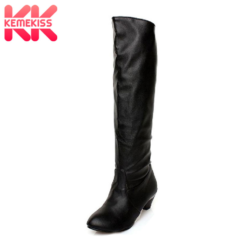 KemeKiss size 34-45 women high heel over knee boots ladies fashion long snow boot warm winter botas heels footwear shoes P7899 free shipping over knee long high heel boots women snow fashion winter warm footwear shoes boot p15455 eur size 34 39