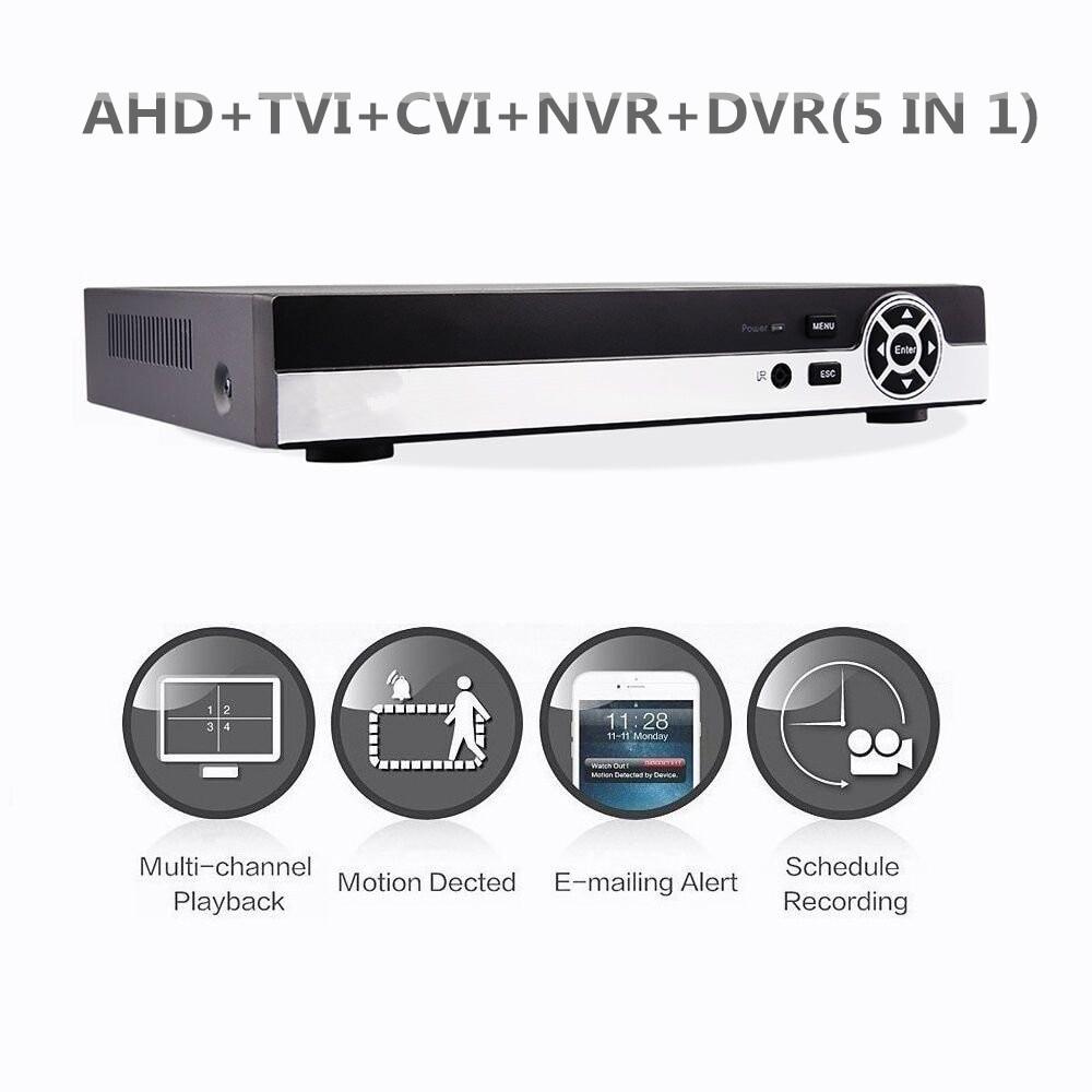 8CH Hybrid 1080N 5-in-1 AHD DVR (1080P NVR+1080N AHD+960H Analog+TVI+CVI) CCTV digital recorder HDMI Output 2 SATA HDD Post