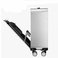 2024inch 100% Aluminum Alloy Business Travel Malas de viagem com rodinhas TSA Lock Cabin Trolley Suitcase Carry on Luggage