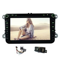 Free Camera 8 Inch Car DVD Player GPS Car Stereo Pure Android 4 4 Quad Core
