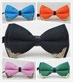 Bowtie/DIY novo estilo Alta-grade produto/Metal Ângulo de design/homens e mulheres bowknot/homens boutique gravata borboleta, frete grátis
