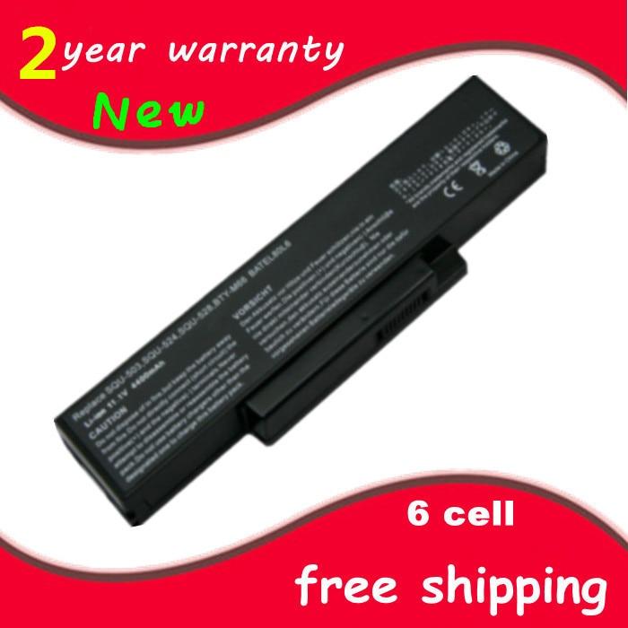 Laptop Battery For E500 EB500 ED500 M740BAT-6 M660BAT-6 M660NBAT-6 SQU-524 SQU-528 SQU-529 SQU-718 BTY-M66 BTY-M68