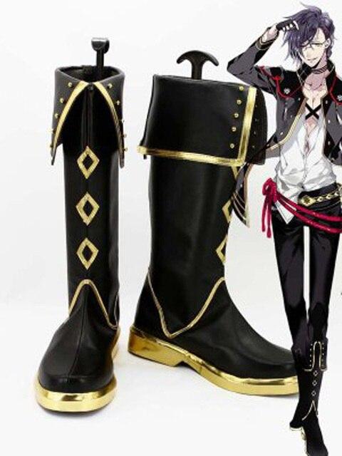Touken Ranbu Online Game Akashi Kuniyuki Cosplay Shoes Boots Custom Made