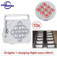 Dj Lighting Effect 6in1 RGBAW UV Wireless LED Flat Par Light LED Par Can Battery Uplighting for Wedding lumiere dj party lights