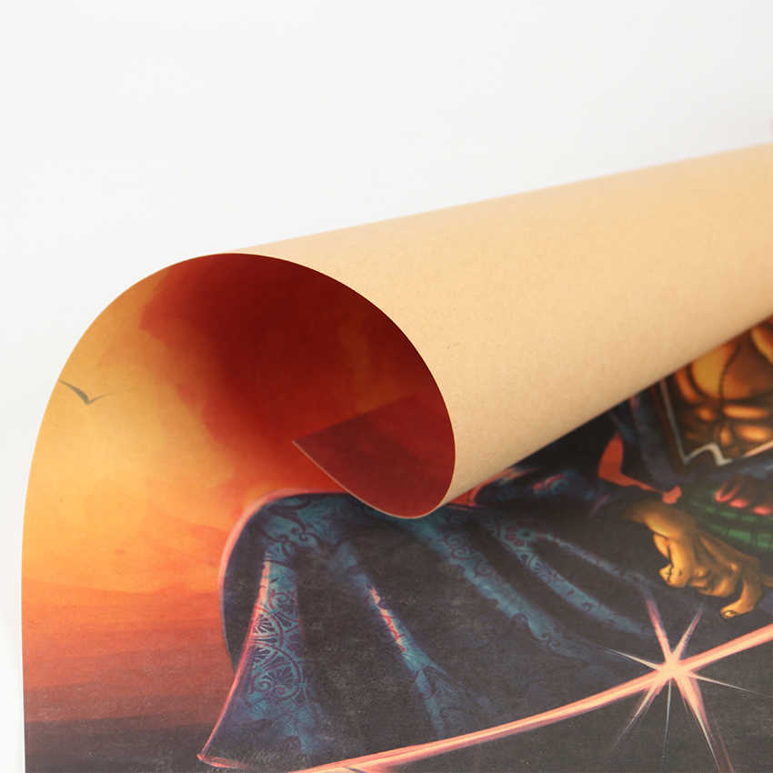 ネクタイ LER 日本漫画コミックワンピースロロノア · ゾロクラフト紙ウォールステッカーバーポスターレトロ装飾画 51 × 36 センチメートル