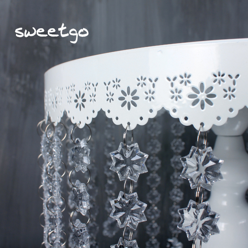 SWEETGO Toy kristal asqıları tort stəkanlı stəkan tort üçün - Mətbəx, yemək otağı və barı - Fotoqrafiya 2