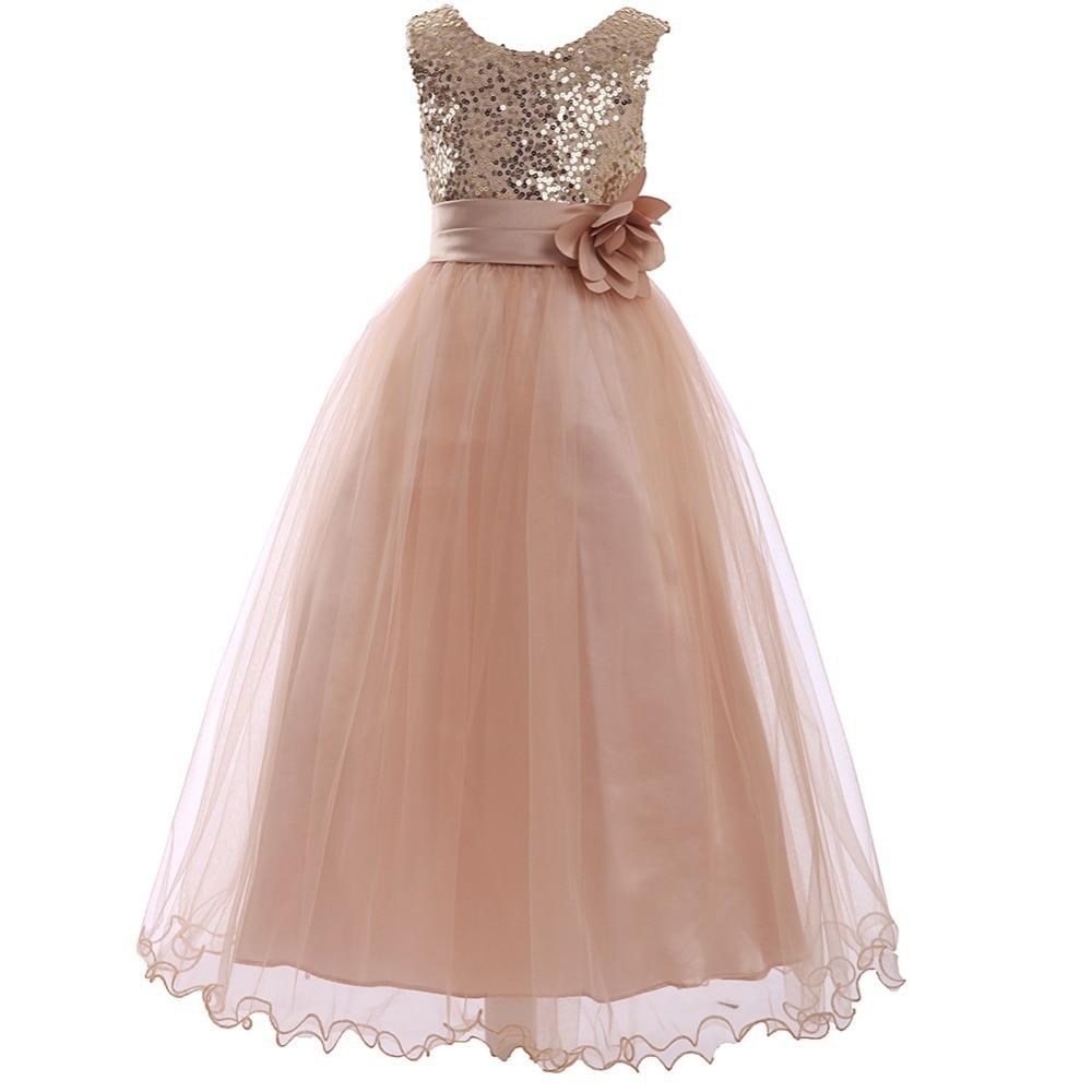 5212 18 De Descuentovestidos Para Niñas 10 12 Vestido De Fiesta Infantil Niñas Vestidos De Dama De Honor Bata Ceremonia Fille Niña Vestidos De